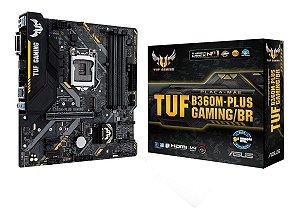 PLACA MÃE B360M-PLUS GAMING/BR TUF ASUS DDR4 1151 (HDMI/VGA) @
