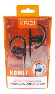 FONE DE OUVIDO AURICULAR KAIDI PRETO/CINZA KD-907 4200