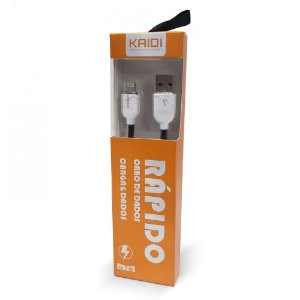 CABO USB IPHONE LIGHTNING KAIDI KD-318A BRANCO 436101 600