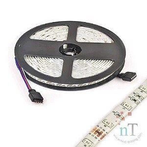 FITA LED RGB PROVA DAGUA COM CONTROLE 5M 60 LEDS EXBOM 02115#