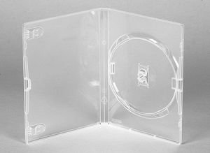 ESTOJO DVD BOX 1 DISCO TRANSPARENTE