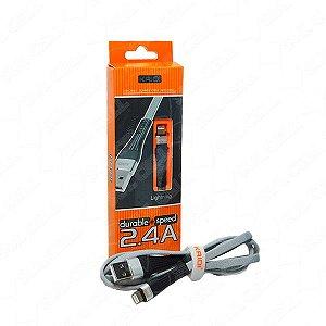 CABO USB IPHONE LIGHTNING KAIDI KD-58A PRETO 1000 575501