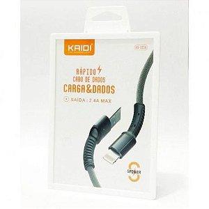CABO USB IPHONE LIGHTNING KAIDI KD-323A VERMELHO 1100 568001