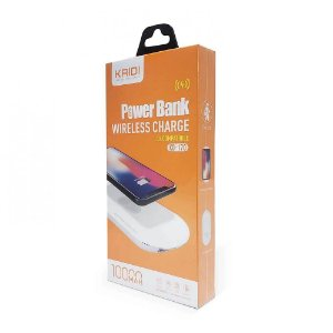 POWER BANK 10000MAH KAIDI KD-172A CINZA