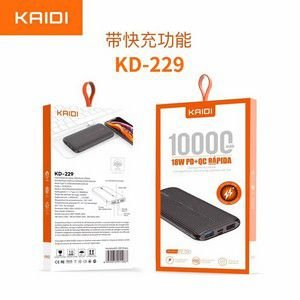 POWER BANK 10000MAH KAIDI KD-229 BRANCO