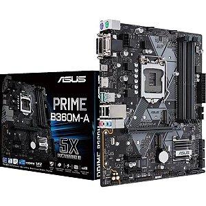 PLACA MÃE B360M-A PRIME ASUS DDR4 1151 (HDMI/VGA) @