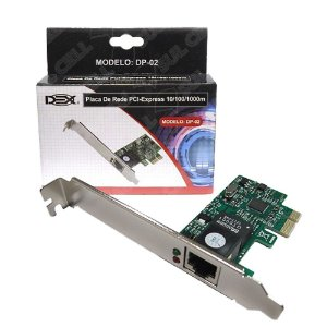 PLACA REDE PCI-EX GIGABIT RO7 DP-02 - 4328