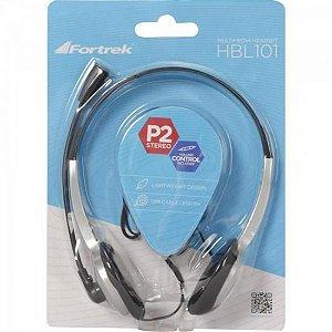 HEADSET P2 (FONE COM MICROFONE) HBL101 FORTREK - 62887