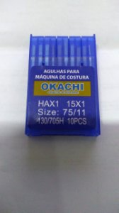 AGULHA DOMESTICA OKACHI 2020 HA1 11 68768 HAX1 15X1 COM 10 UND