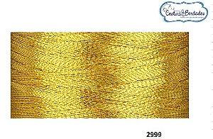 Linha Metalizada Ricamare Cones de mil metros J 2999 DOURADA