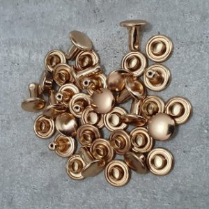 Rebite Nº 3 Duas Cabeças Ouro com 50 unidades