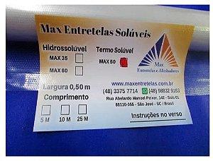 Entretela Termo Solúvel MAX 50 rolo com 10 metros 0,5 de largura