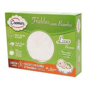 Fralda Cremer Luxo com Bainha caixa com 5 unidades