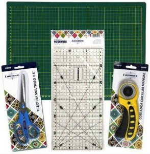 KIT DE BASE DE CORTE P/ PATCHWORK SCRAPBOOK