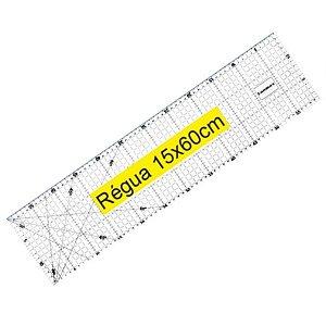 Régua para Patchwork Lanmax 15x60 cm