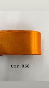 Fita de cetim Numero 5 progresso CF005 COR 066 LARANJA