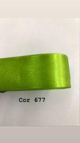 Fita de cetim Numero 5 progresso CF005 COR 677 VERDE CITRICO
