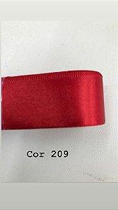 Fita de cetim Numero 2 progresso CF002 COR 209 VERMELHA
