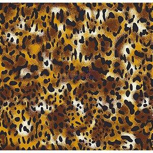 TRICOLINE ANIMAL PRINT GUEPARDO COR 01 100% ALGODÃO TT200550 (DOURADO E PRETO)