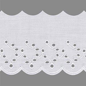 Bordado Inglês 7,5cm 84% poliester 16% algodão BP087 - 13,7m