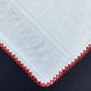 Fralda Nicoli PT Crochet 30 x 40 cm p/ Pintar VERMELHO