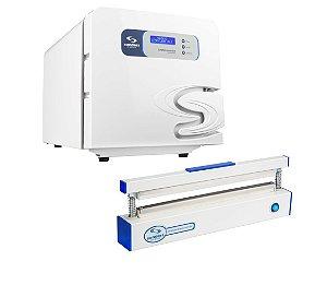 Kit Autoclave 21 Litros e Seladora Odontológica