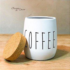 LATA PORTA CONDIMENTO COFFEE OAK BRANCO