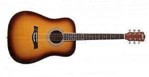 Violão Elétrico Seizi Tennessee Acoustic Blues Tobacco Sunburst Com Bag
