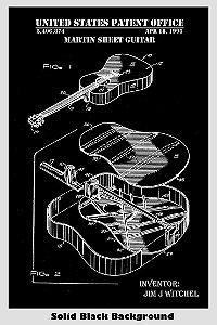 Quadro A3 Decorativo Personalizado - Patente Martin