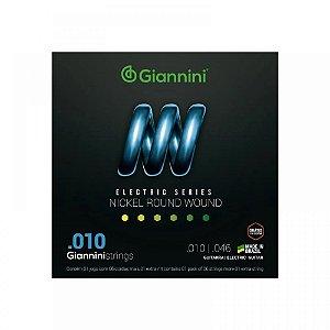 Encordoamento Giannini Guitarra 0.10  Geegst