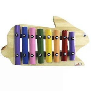Metalofone Infantil Jog Music Coelho Colorido P 2239