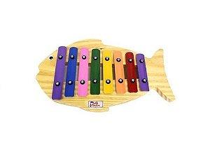 Metalofone Infantil Jog Music Peixe Colorido P 2234