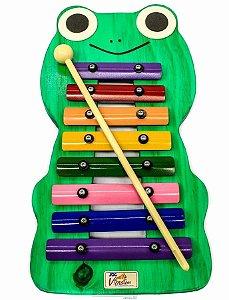 Metalofone Infantil Jog Music Sapo Colorido P 2235