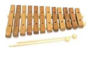 Xilofone Infantil Jog Music 12 Teclas Natural P 2111