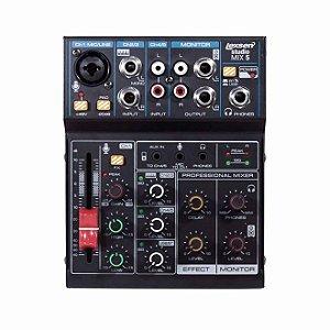 Mesa de Som Lexsen Studio Mix 5 Canais