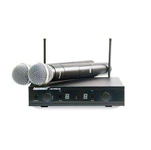 Microfone Duplo de Mão Lexsen Lm 25 8 U