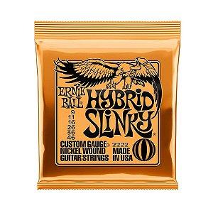 Encordoamento Guitarra 009 Ernie Ball Hybrid Slinky 2222