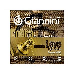 Encordoamento Bandolim Giannini Cobra Cm 82 Leve 80/20