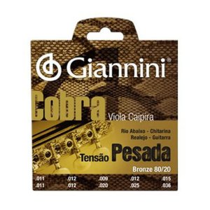 Encordoamento Viola Caipira Cebolao E Giannini Cobra Cv 82 L Bronze 80/20