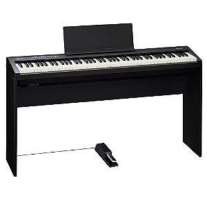 Piano Digital Roland FP-30 Com Estante e Pedal Bk
