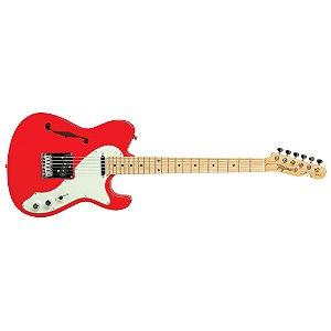 Guitarra Telecaster Semi Acústica - Tagima T 484 Fr Fiesta Red