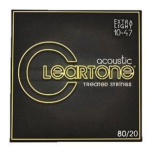 Encordoamento para Violão de aço Cleartone 0.10 Bronze Extra Light