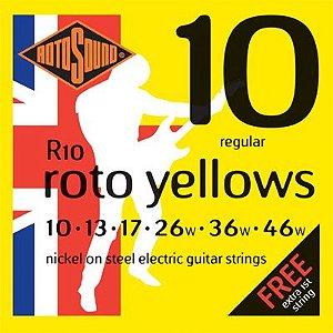 Encordoamento de Guitarra Rotosound 010 -  R10