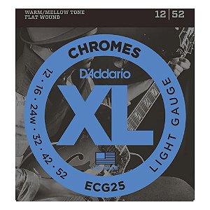 Encordoamento de Guitarra D'addario Chromes ECG25 - 0.12 FLAT WOUND