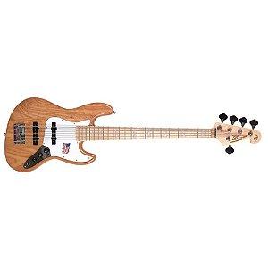 Baixo 5 Cordas Jazz Bass Sx Sjb 755 Na