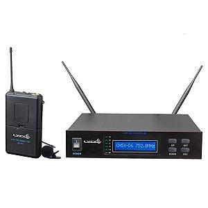 Microfone Lapela sem fio - LYCO UHF - 96 L 16 Freq. 2 Ant.
