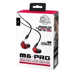 Fone Mee Audio M 6 Pro Universal Fit Noise Monitor Vermelho