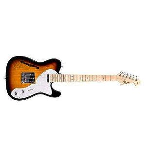 Guitarra Telecaster Semi Acustica Sx Tl Vintage Hollow Body Sunburst