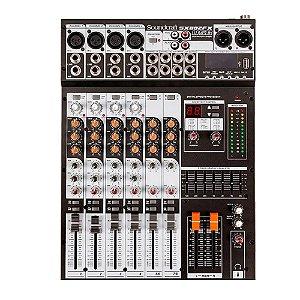 Mesa De Som Soundcraft 8 Canais Sx 802 Fx Usb