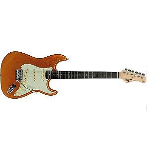 Guitarra Stratocaster Tagima Tg 500 Mgy Woodstock Metallic Gold Yellow